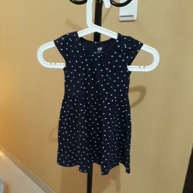 Dress Anak 2-4 Tahun Merk H&M Biru Navy