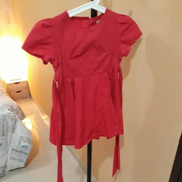 Dress Merah Size 120 (3 Tahun)