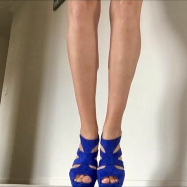 Electric Blue Boots/heels/wedges