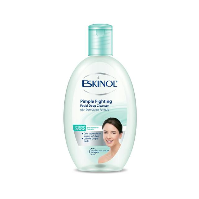 Clearance Stock! Eskinol Pimple Fighting Facial Deep Cleanser 225ml