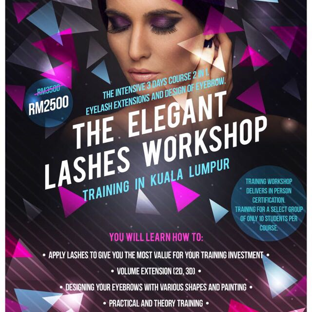 Eyelash Extension Training Course And Design Of Eyebrow Promo Price
