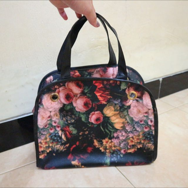Floral Printed Hand Bag