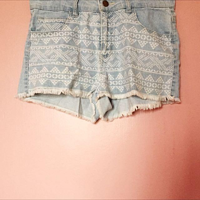 Forever21 High-waist, Aztec Shorts
