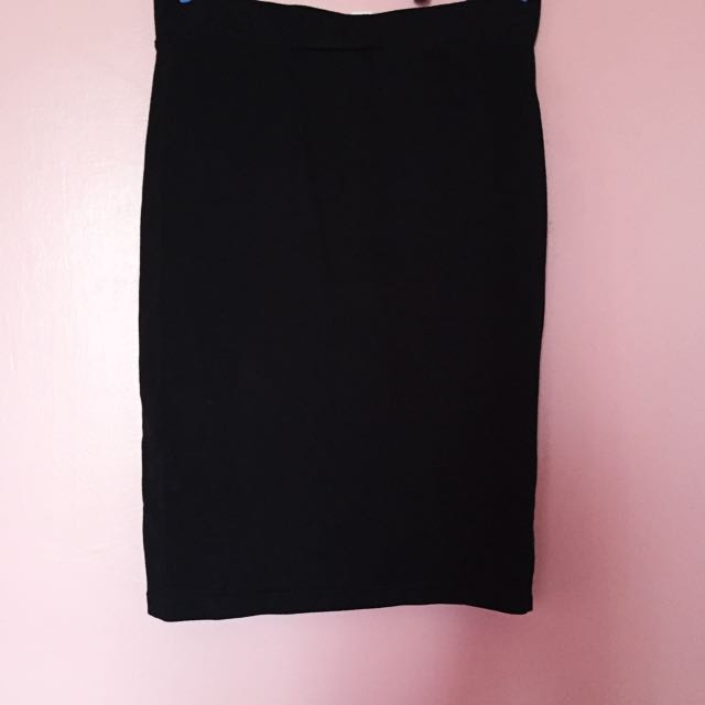 Forever21 Plain, High-waist, Pencil Skirt
