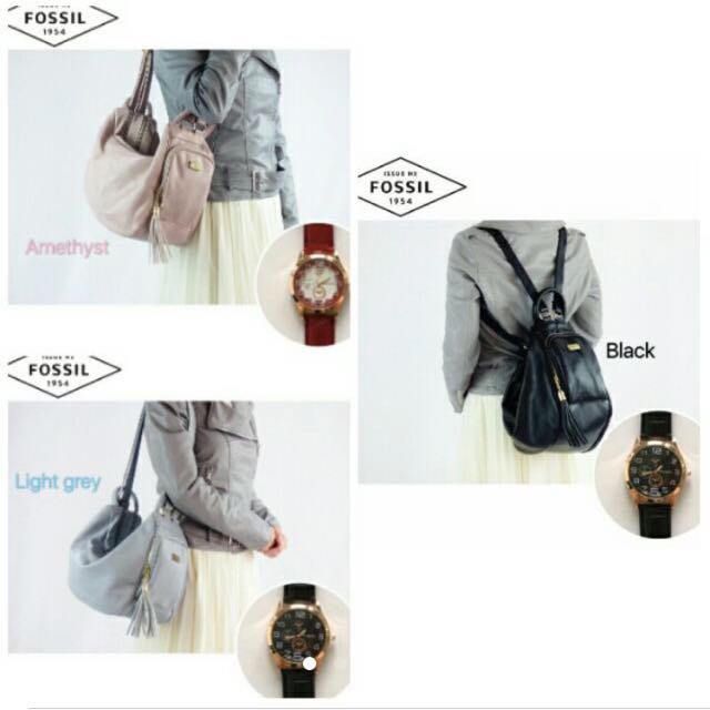 Fossil 4 Way Carry Daily Use Bag + Watch