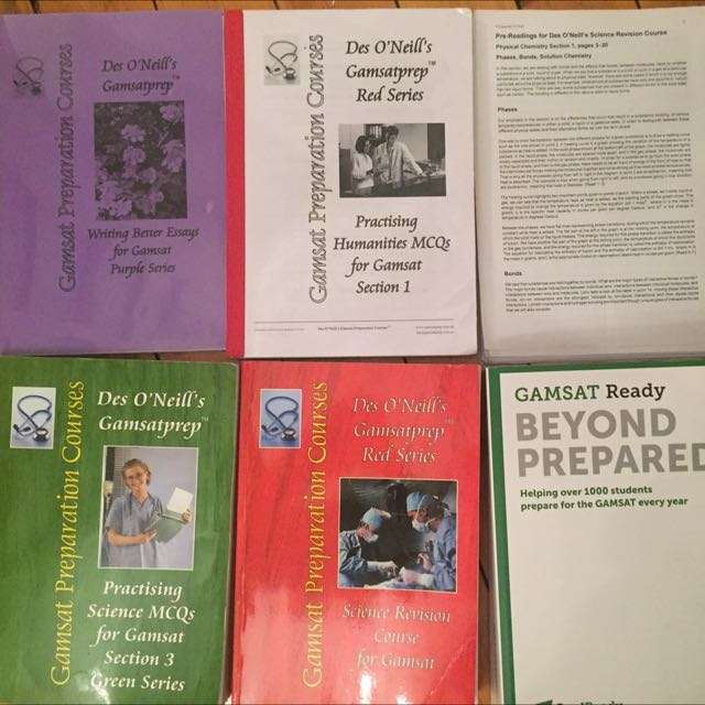 GAMSAT all You Need! Complete Diamond Des O'Neil And Gradready Textbooks