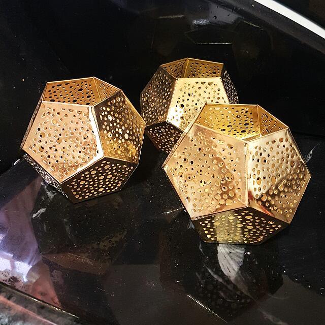Gold Tealight Holders Bundle