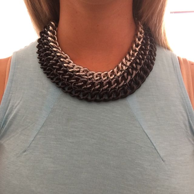 Grey Chain Necklace