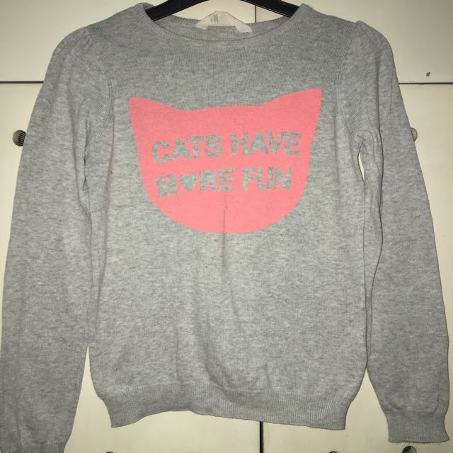 H&M Cats Sweater Grey