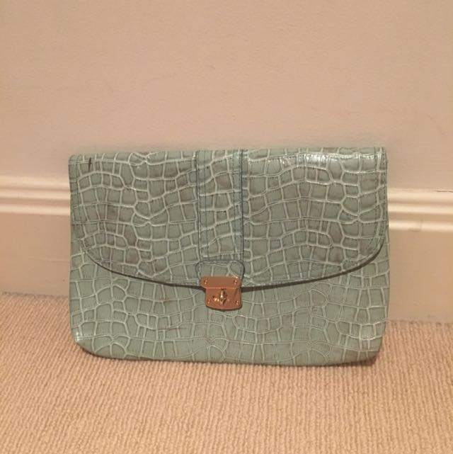 H&M Fake Croc Skin Clutch