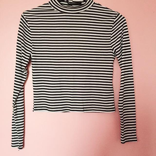 H&M Striped, Turtleneck Top