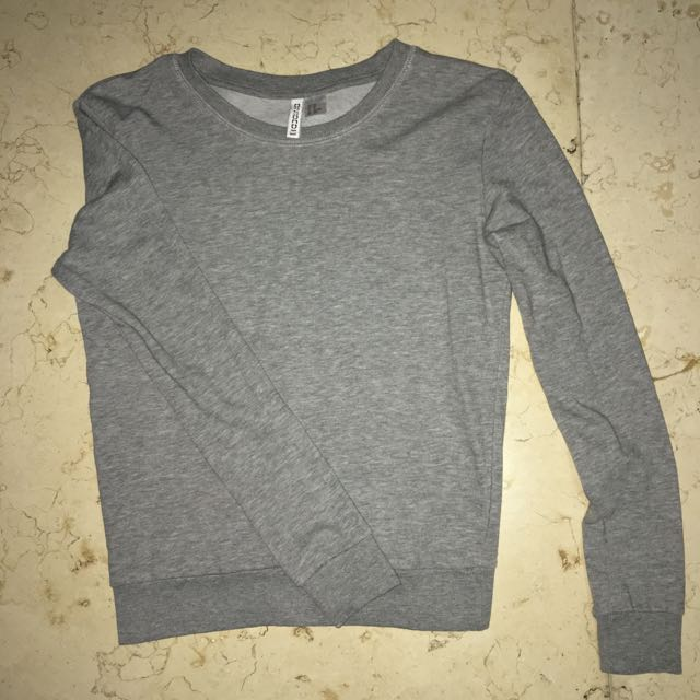 H&M Sweater Grey Gray