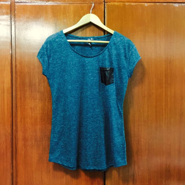Human Blue Green Shirt w/ Pocket