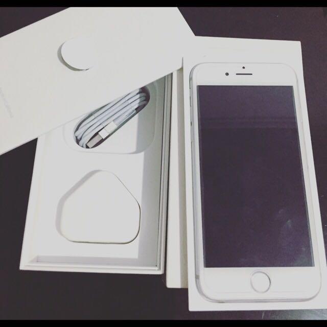 iPhone 6 16gb Silver Mulus