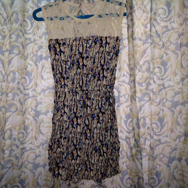 Keyhole Lace Back Dress