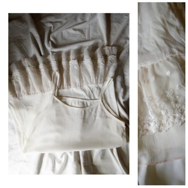 [kids] Girl's Cream Dress With Tutu Lining