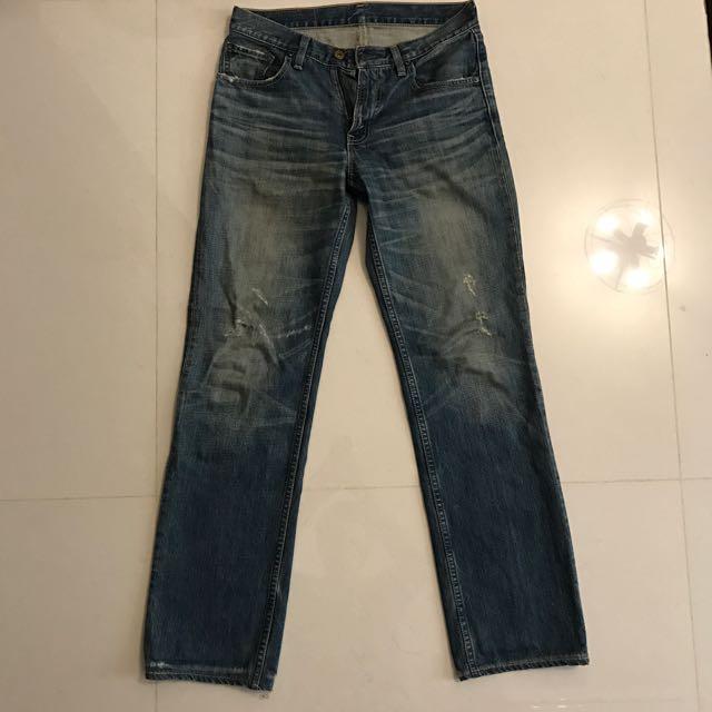 Levi's 502 合身 牛仔褲 W30 x L33
