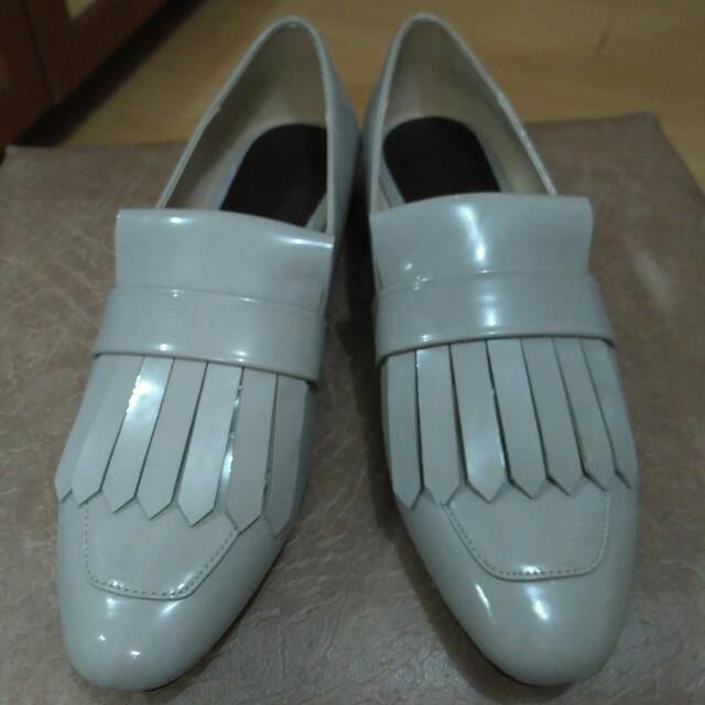 Mango - Light Grey Slip-ons (Original) Size 38