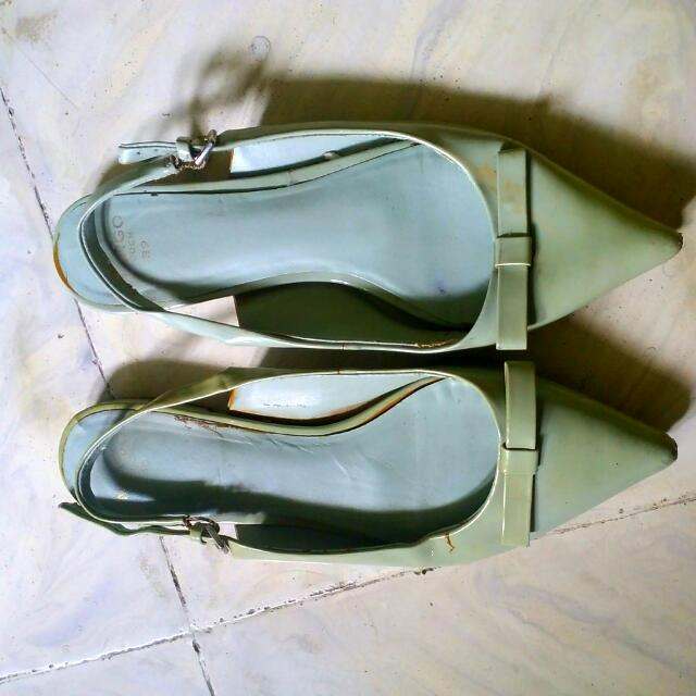 Mango Green Flat Shoes