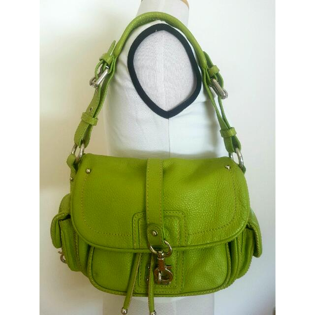 Marc Jacobs Lime Leather Designer Bag