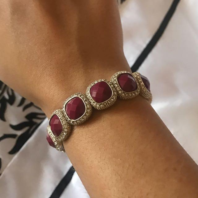 Marrone And Diamontie Detail Bracelet