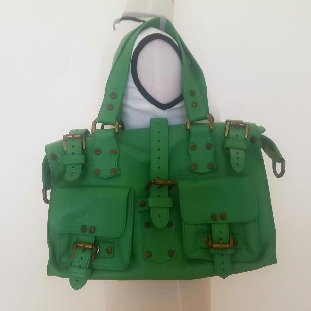 Mulberry Designer Green Leather Bag