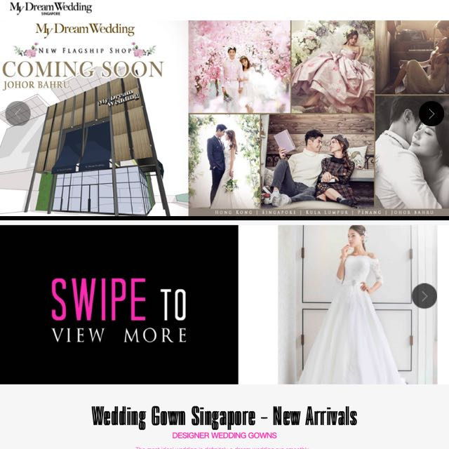 My Dream Wedding Singapore Actual Day And ROM Gown Rental, Luxury ...