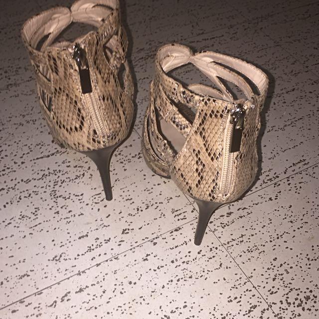 Anne Michelle Leather Stiletto