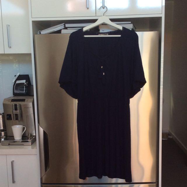 Oasis Navy Dress