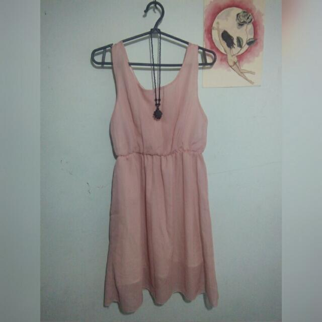Peach pretty dress (size S/M)