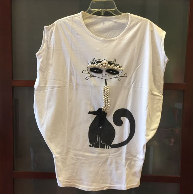 REPRICE!!! Pearly Cat T-shirt
