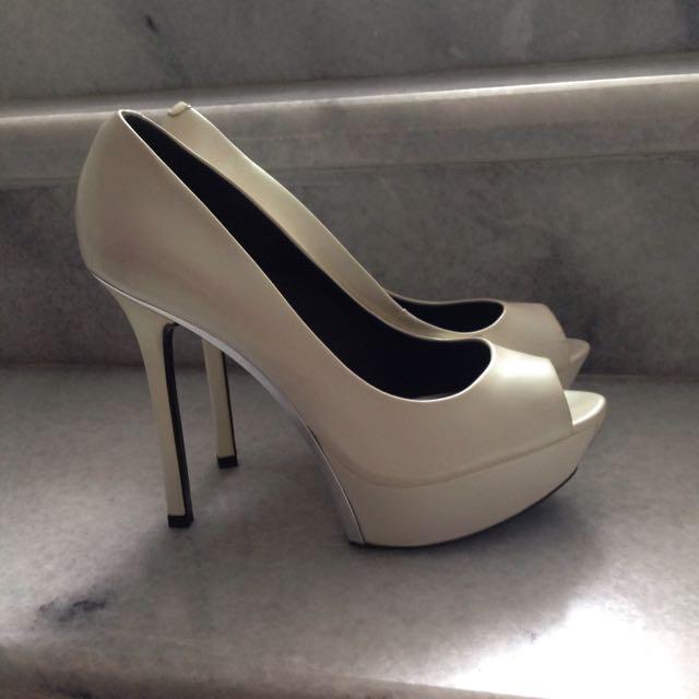 Pedro White High Heels