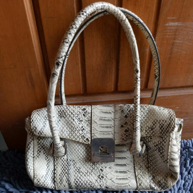 Perllini Snake Skin Bag