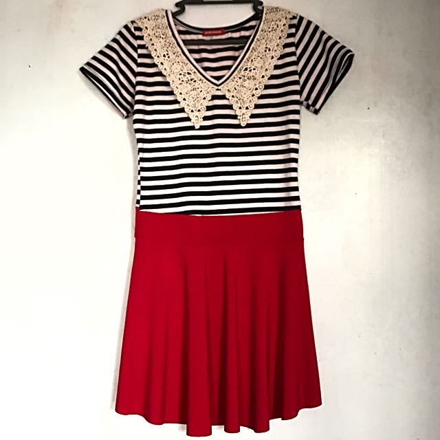 Petit Monde Nautical dress