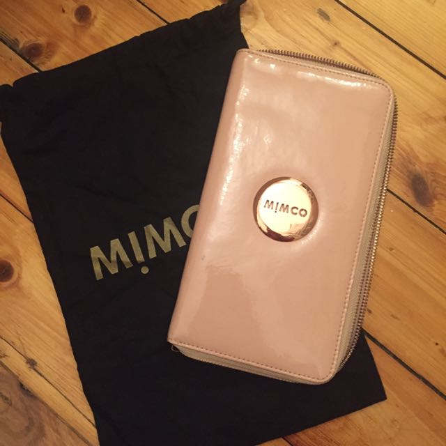 Pink Mimco Travel Wallet