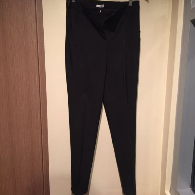 Pour Elle Slim Fit Black Slacks