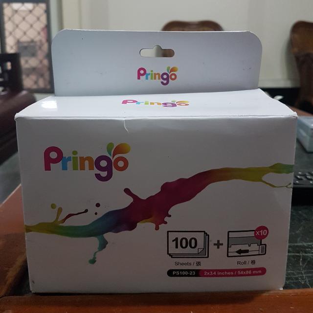 Pringo P231相紙100張 送20張