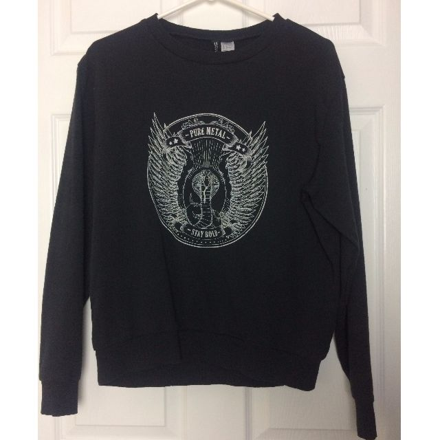Pure Metal Crewneck Top