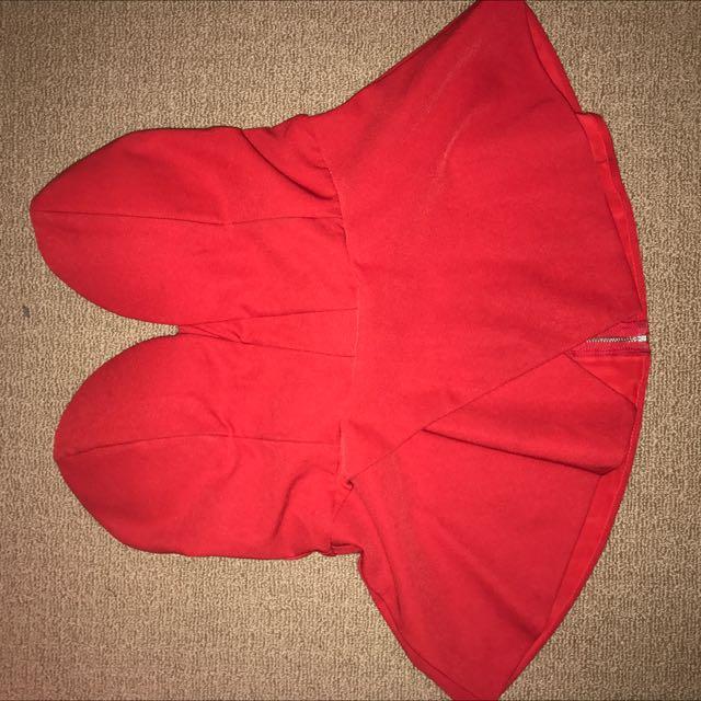 Red Angel Biba strapless shirt