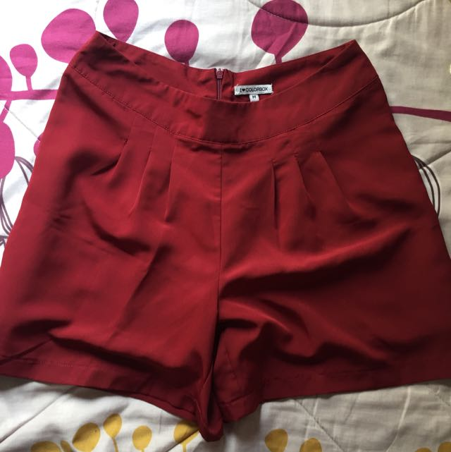 Red Colorbox Shorts