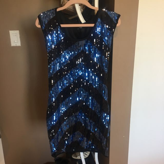 Sequin Black And Blue Dress From ASOS