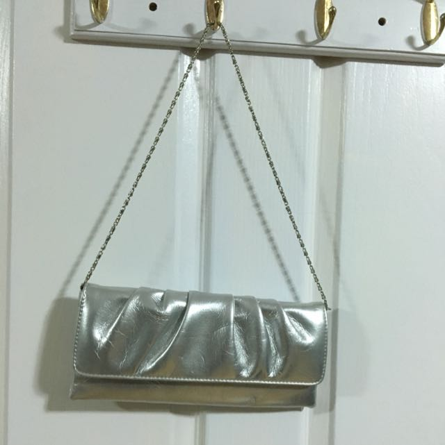 Silver clutch bag Strandbags