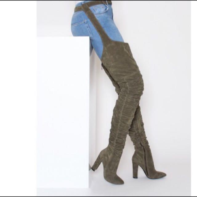 Rihanna Thigh High Boots