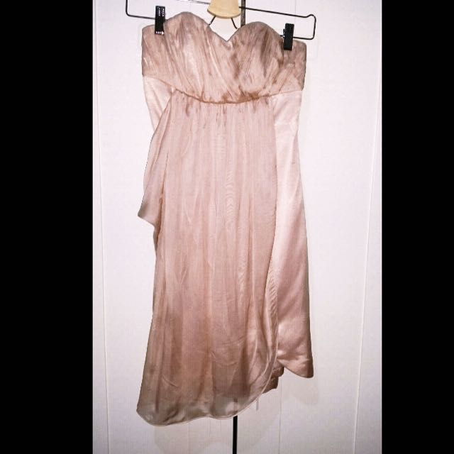 Size 8 Forever New Chiffon Strapless Dress