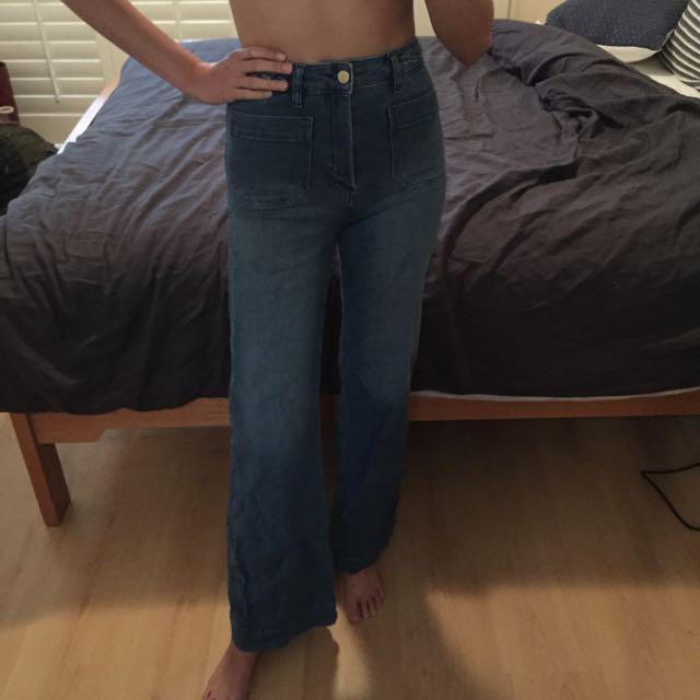 Size 8 Highwaisted Denim Flare Jeans