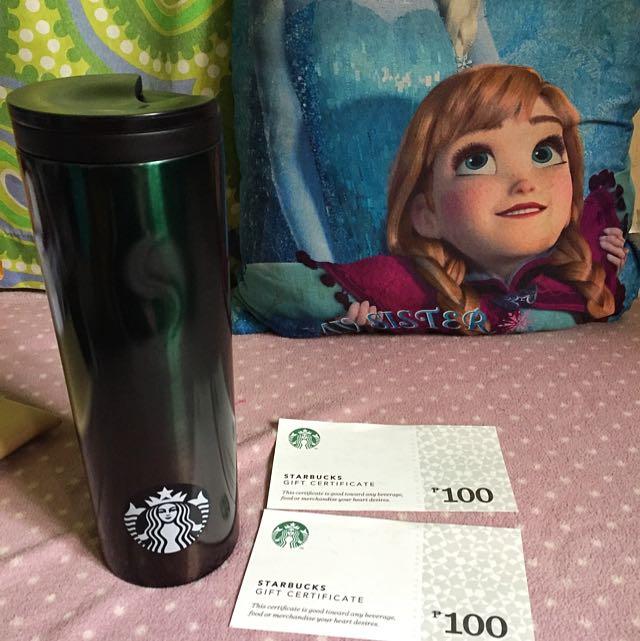 Starbucks Tumbler W/ Php 200 GC