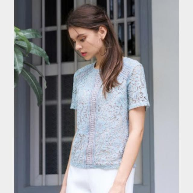 The Closet Lover Pale Blue Blouse