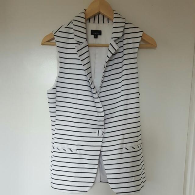 Tokito Striped Vest - Size 8