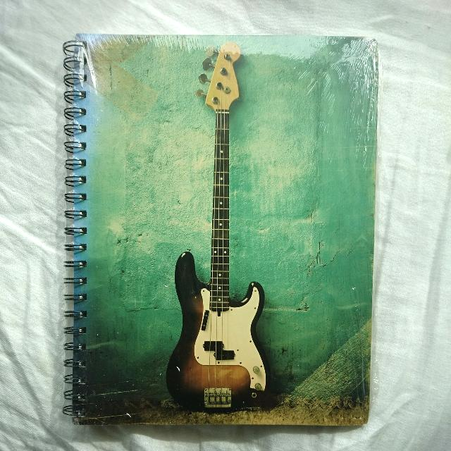 Typo Lined Guitar Notebook New