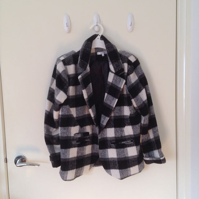 Valleygirl Checkered Jacket